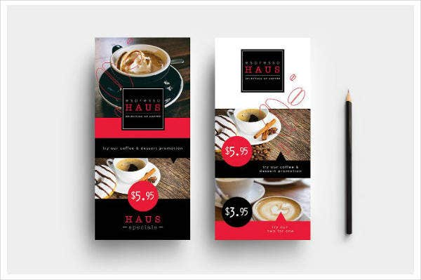 Simple Coffee Shop Rack Card Template