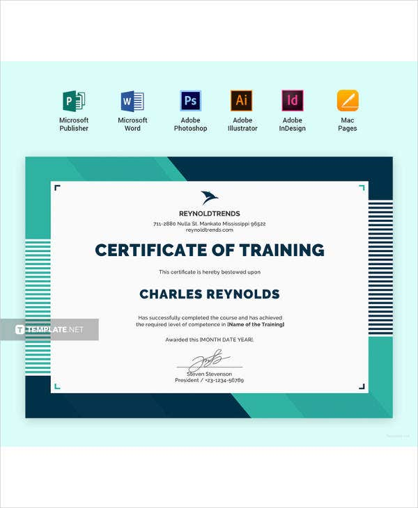 simple company training certificate template
