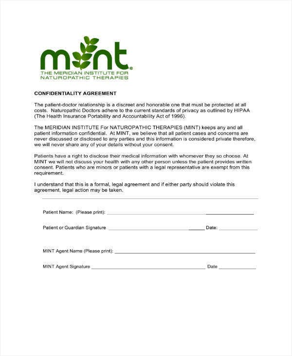 Simple Confidentiality Agreement