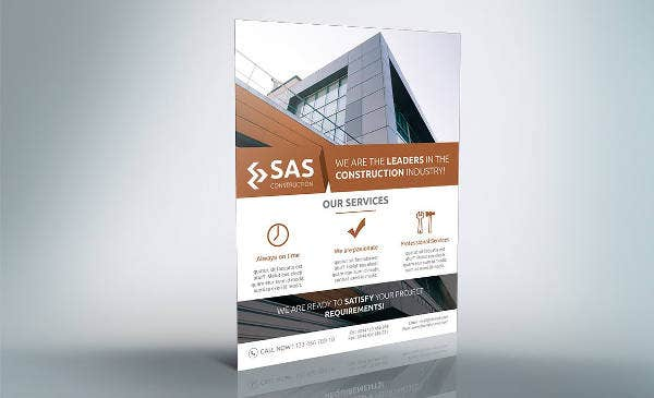 Simple Construction Firm Flyer Template