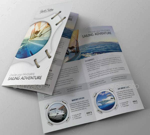 Simple Cruise Bifold Brochure Template