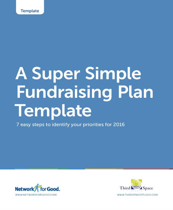 simple fundraising plan template 01