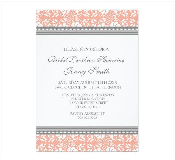 Simple Lunch Party Invitation Card
