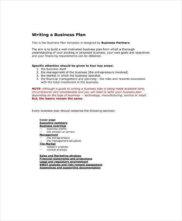 Simple Market Analysis Business Plan