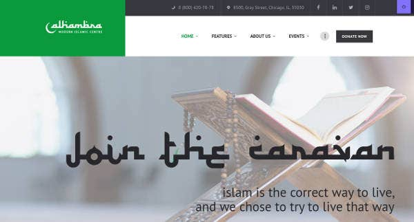 Simple Mosque WordPress Theme