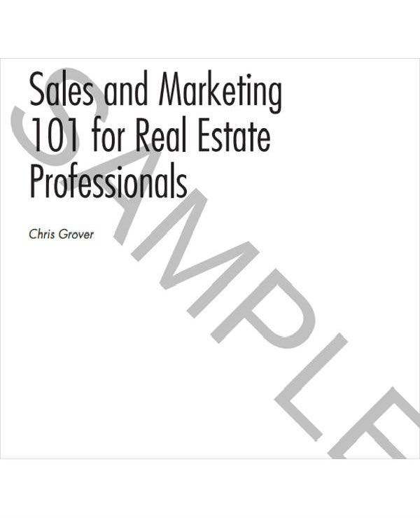 simple real estate sales plan template