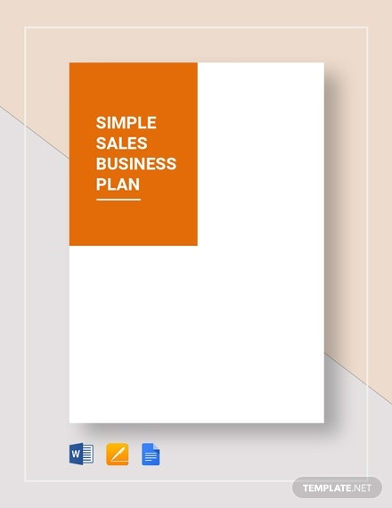 simple sales business plan
