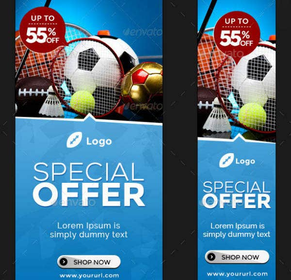 simple sports banner template set1