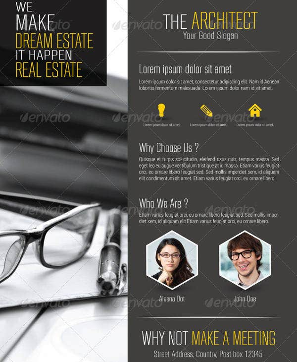 sleek architecture firm flyer example
