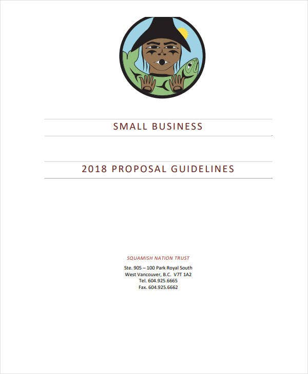 small business proposal guidelines