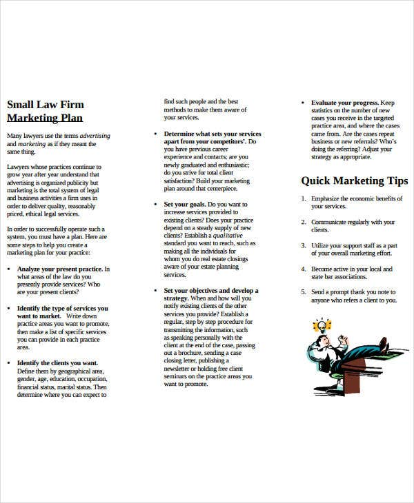 small law firms marketing plan
