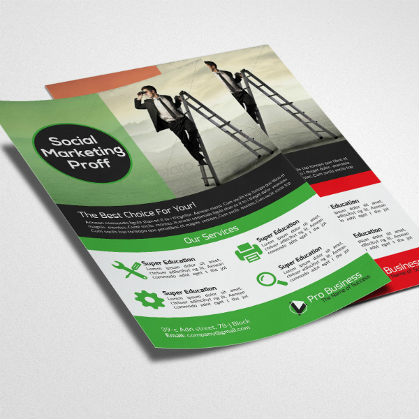 Social Marketing Consultants Flyer Template