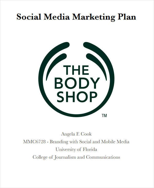 social media marketing plan for shop