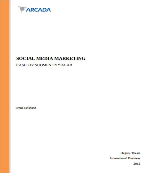 Social Media Marketing Sample