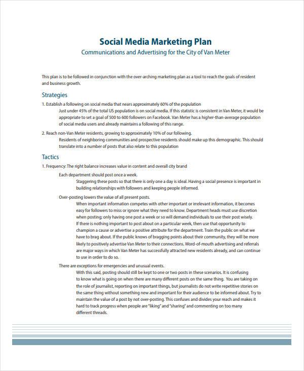 social media marketing strategy example