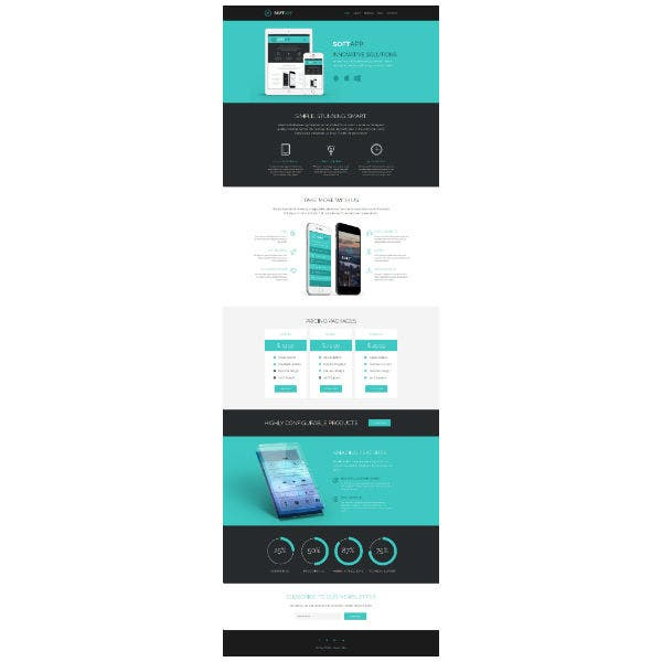 software responsive website template