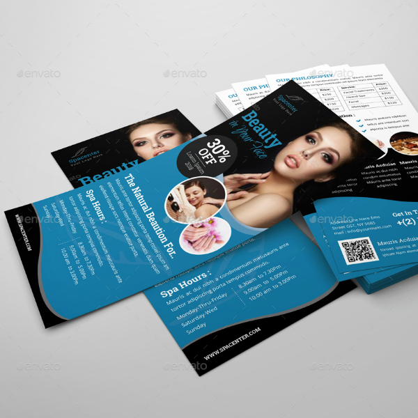 Spa Beauty Salon Rack Card Template