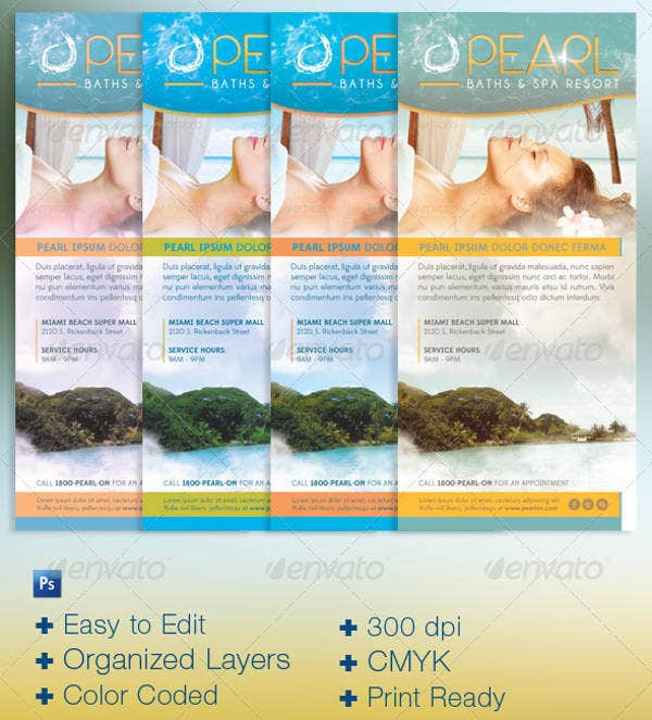 Spa Resort & Hotel Rack Card