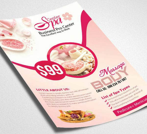 Spa Treatment Business Flyer Template