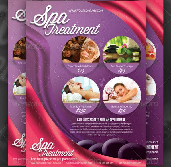 Spa Treatment Flyer Example