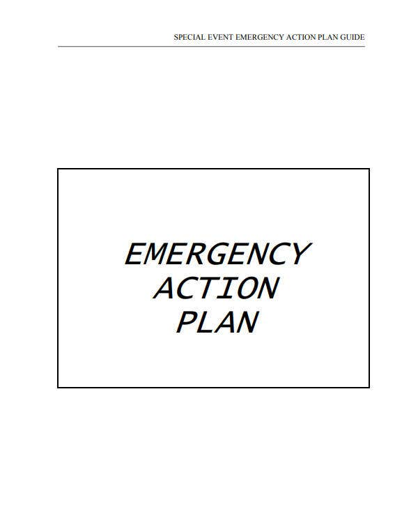 special event emergency action plan guide