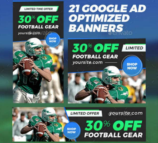 sport banner ads template set