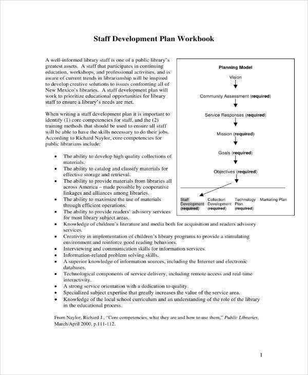 staff development plan sample