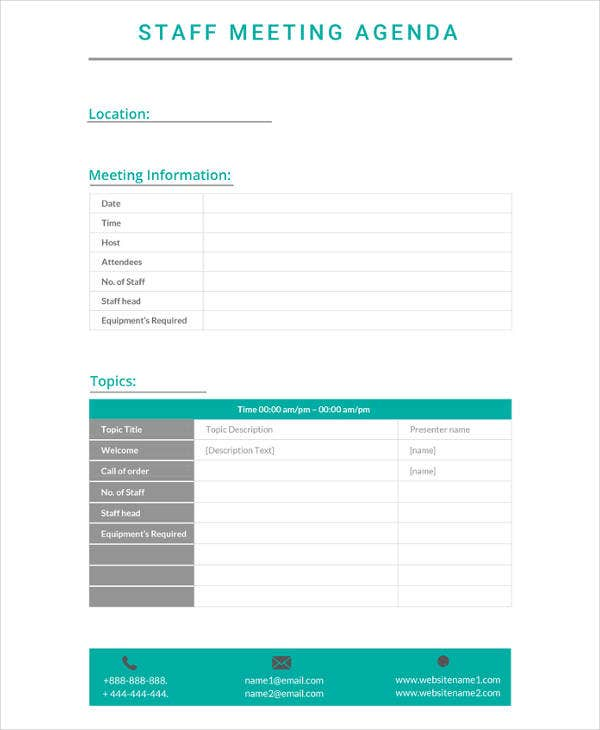 17  staff meeting minutes templates