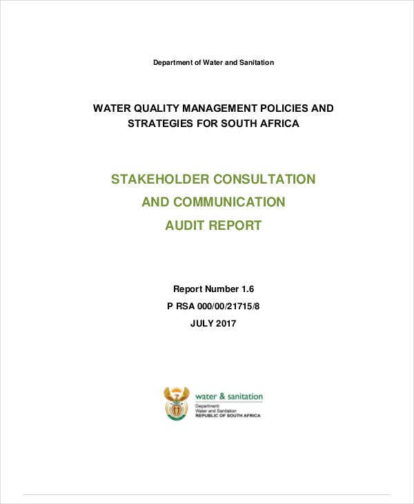 stakeholder engagement and communication audit report