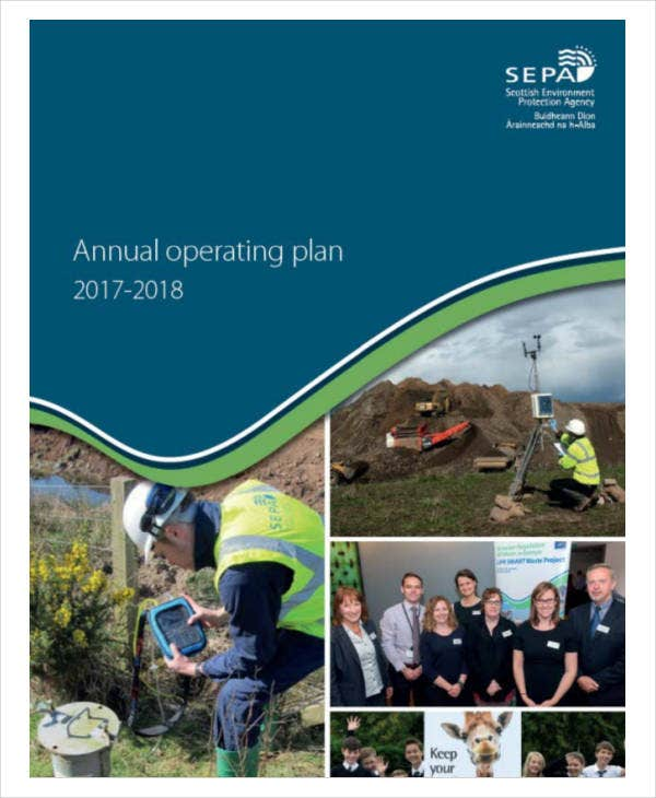 standard annual operational plan