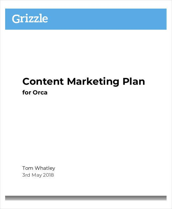 standard content marketing plan