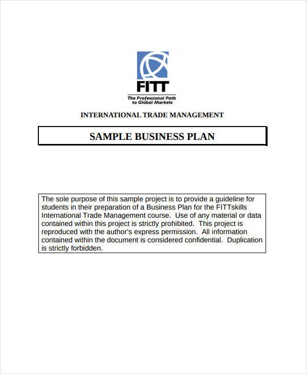 standard medical business plan