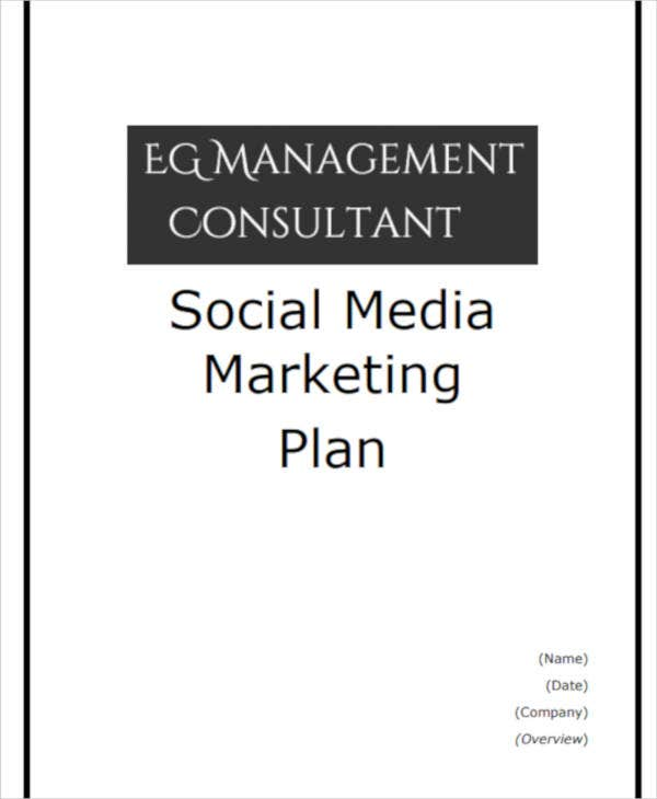 standard social media marketing plan