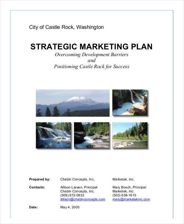 standard strategic marketing plan