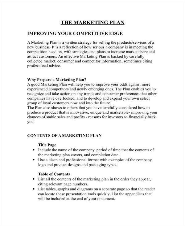 Startup Marketing Plan Sample in DOC