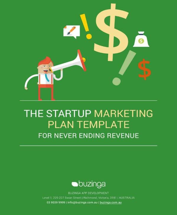 startup marketing plan sample