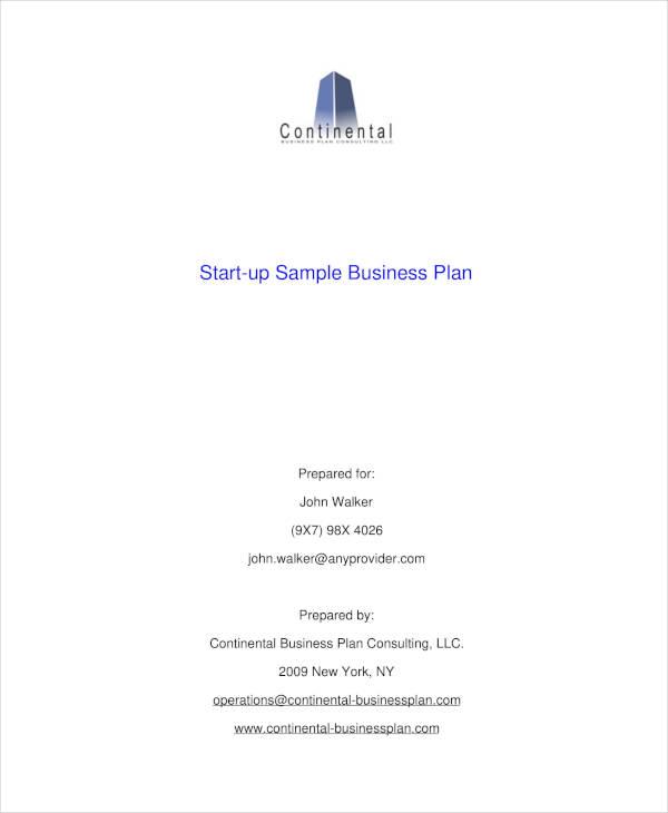 startup sample business plan1