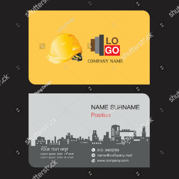 Stock Engineer Business Card Template