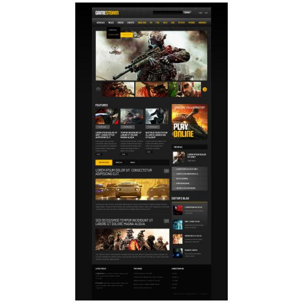 storm games responsive website template