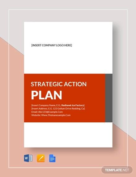 strategic action plan template