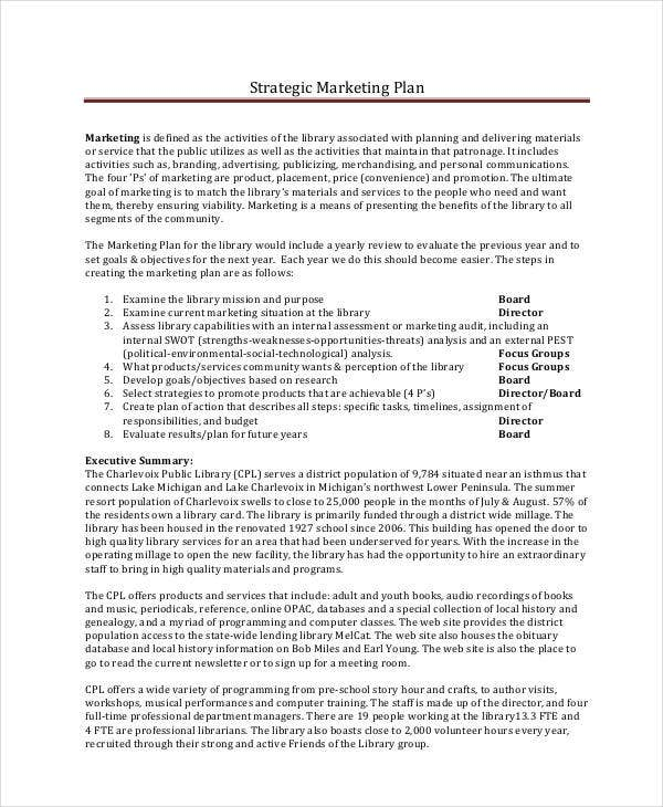 strategic book marketing plan