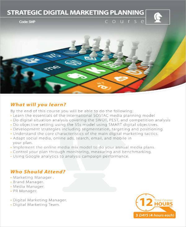 strategic digital marketing plan sample