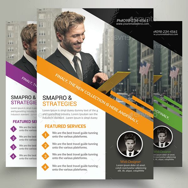 Strategic Marketing Consultants Flyer Template