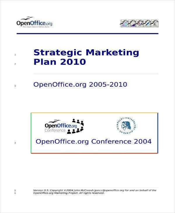 strategic marketing plan example