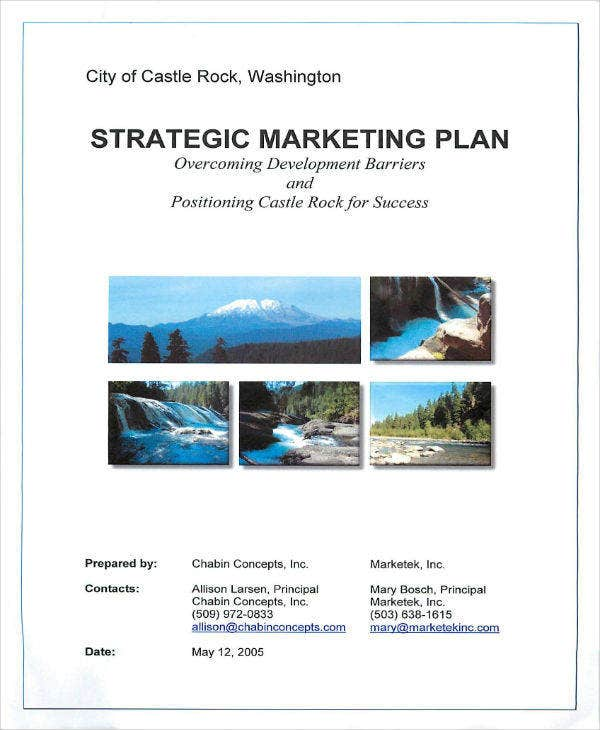 strategic marketing plan of castle rock