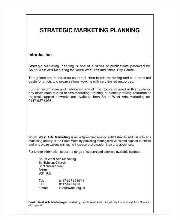 strategic marketing planning example