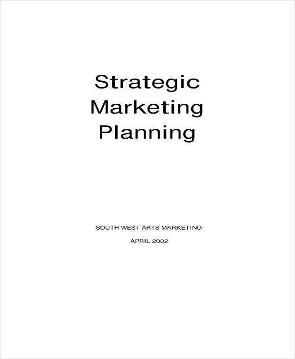 strategic marketing planning example1