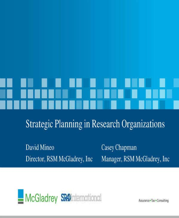 strategic planning in research organization