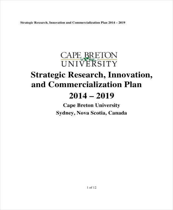 strategic research and innovation plan