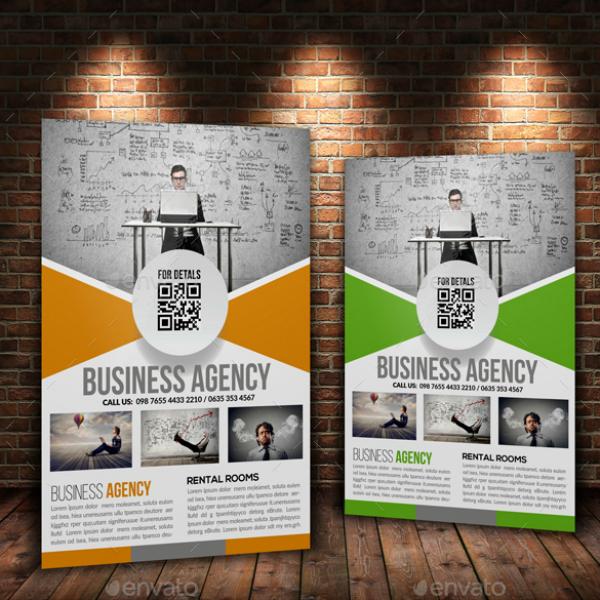 Structured Business Analyst Agency Flyer Template